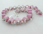 Girl's Bike (Eco Geek Ethernet Sheathing Pink Upcycled Plastic Bracelet)