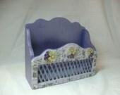 Cute Purple Mosaic Note  Letter  Planter  Flower Garden Box