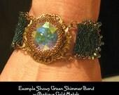 Beaded Bracelet Kit with Swarovski Stone