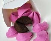 Valentine's Fortune Cookies Felt