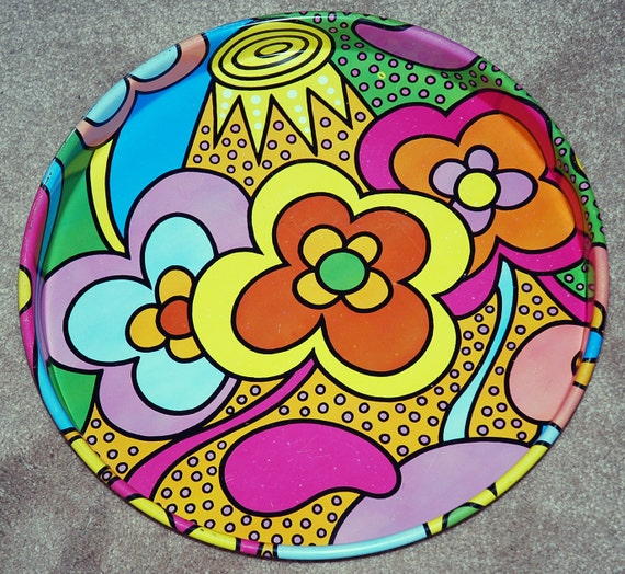 Retro 60's Mid Century Modern Peter Max Style by ...  Peter Max 60s