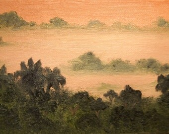 Rainforest Morning Original ACEO Oil Painting