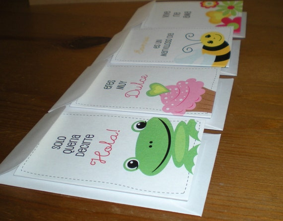 Mini Note Cards - in Spanish - Set of 8 folded cards in 8 unique designs