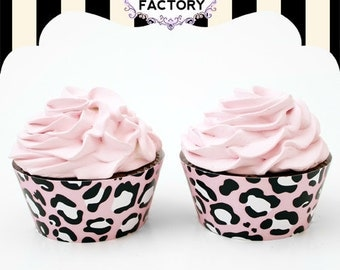 Pink Leopard Cupcake Wrappers