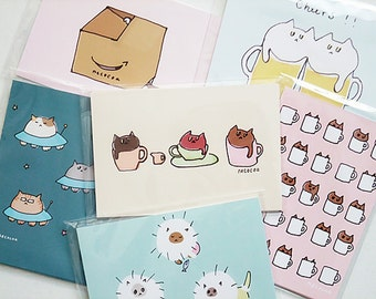 necocoa illustrated postcards - pick your favorite 3