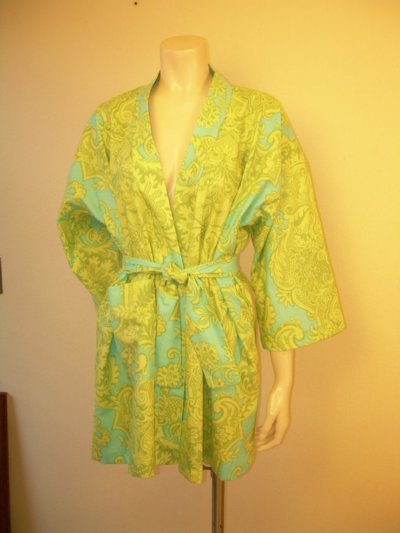 YOUR SIZE All Cotton Robe  3-10 made in Amy Butler Designer Fabric