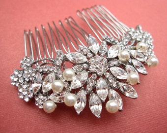 wedding hair piece,pearl bridal comb,bridal headpiece,wedding  hair accessories,weddings bridal accessories hair,wedding hair comb,crystal