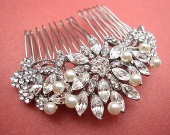 wedding hair piecepearl bridal combbridal headpiecewedding hair accessoriesweddings