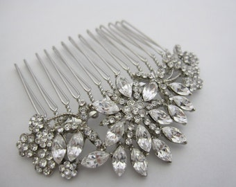 Vintage Inspired bridal hair comb,wedding hair accessories, bridal headpieces, rhinestone hair comb bridal ,wedding hair comb, bridal