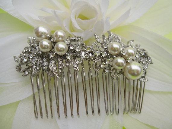 Wedding hair comb pearl,Bridal hair accessories,Wedding comb Vintage inspired Bridal hair comb,Pearl hair comb Bridal hair piece,Wedding