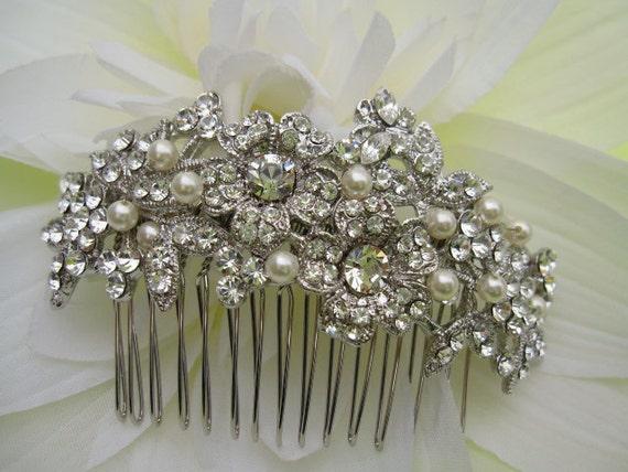 Vintage Inspired bridal hair comb wedding headpiece bridal hair accessory wedding hair comb bridal hair piece pearl bridal comb wedding comb