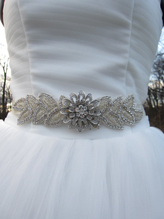 items similar to bridal belt sash ribbon rhinestone
