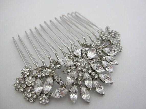Vintage Inspired bridal hair comb,wedding hair accessories, bridal headpieces, rhinestone hair comb bridal ,wedding hair comb, bridal