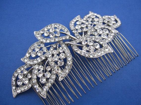 Bridal hair comb Rhinestone,Wedding hair piece,Bridal hair accessories,Wedding headpiece,Bridal comb Crystal hair comb,Wedding hair clip