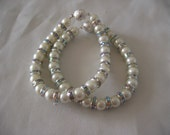 Set of 2 Pearl Bracelets for bridesmaids -  Swarovski pearls and rhinestone  -  Made to Order