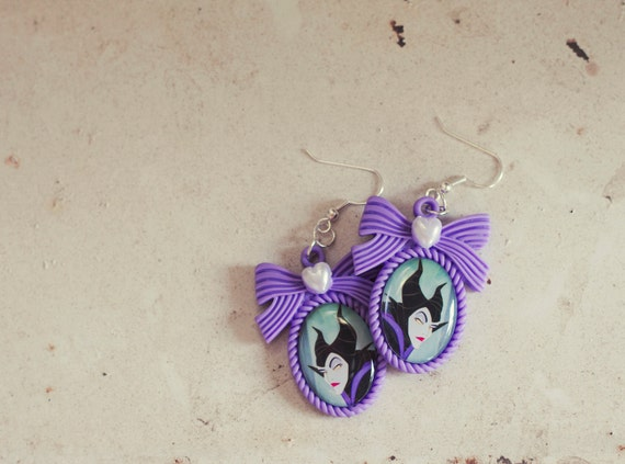 Maleficent - cameo earrings