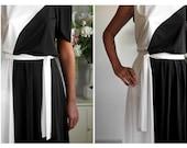 Black and white a-symmetrical dress