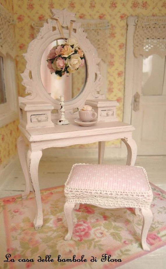 Reserved Pale Pink Princess Dressing Table And Stool 1 12