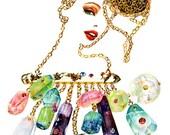 Watercolour Fashion Illustration  - Charmaine