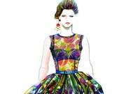 Runway Fashion Illustration - Dolce & Gabbana