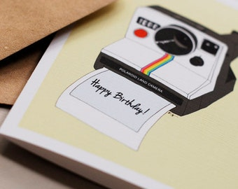 Polaroid Camera- Birthday Card