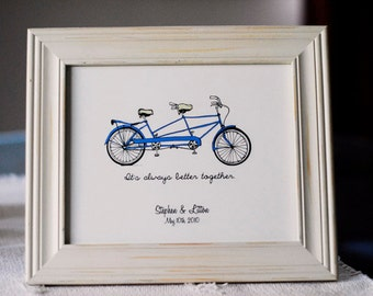 It's always better together- tandem bike print