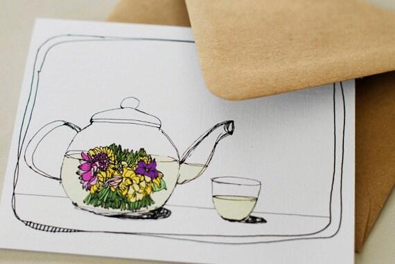 Flowering Tea- Blank Card