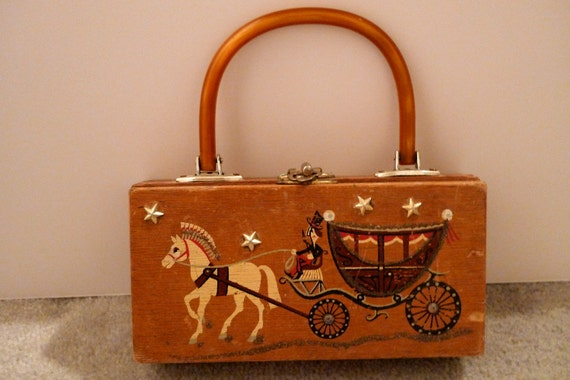 Gary Gails of Texas Box Bag Horse Drawn Carriage Trade Coach Small Handbag Hong Kong FREE SHIPPING