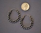 Sterling Silver Antiqued Earrings