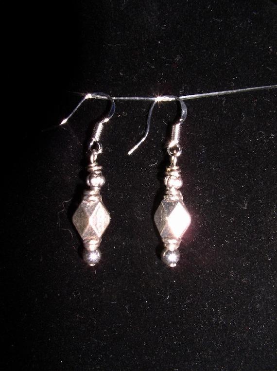 Sterling Silver Diamond Cut Bali Earrings