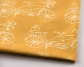 Vintage Traveler Yellow  -  Original Fabric - Fat Quarter