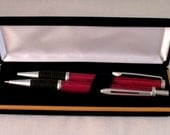 Purpleheart Satin Chrome Pen and Pencil Set