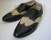 Vintage 1980s Bencini Men's Oxford Shoes Size 12
