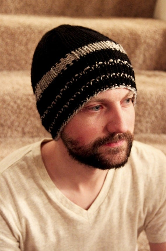 Hat, Beanie, Knit, Beanies, Beanie, Men's Beanies, Hat, Christmas Gifts, Knit hat, Winter Accessories, Knit Hat, Black and Grey beanie