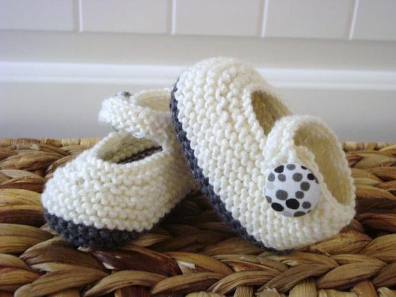Tivoli White and Grey Baby Shoes
