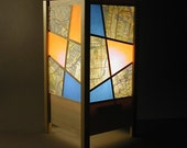 shoji style subway map lamp