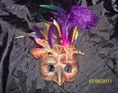 Paper Mache Goblin, Owl mask, Halloween costume, Masquerade mask, bird mask, Halloween mask, Ren fair, larp, Witch
