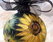 Handpainted Glass Ornament