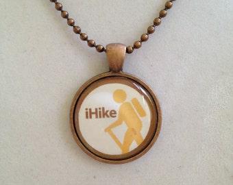 Hiking Pendant Necklace