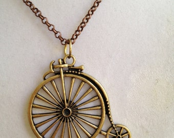 Penny Farthing Bicycle Necklace