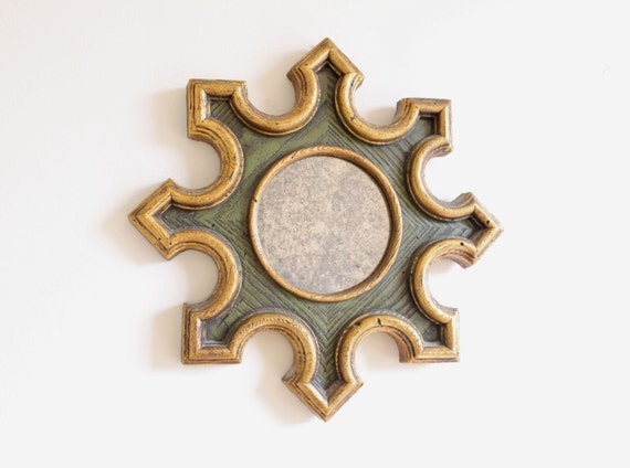 Quartite Creative Green and Gold Mirror