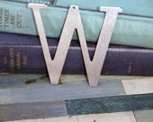 Industrial Raw Metal Letter W