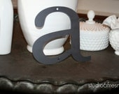 "Lowercase Industrial Metal Letter ""a"" With FREE Shipping"