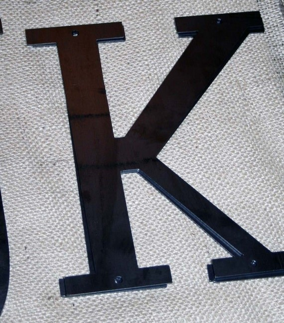 "Industrial Raw Metal Letter ""K"" With FREE Shipping"