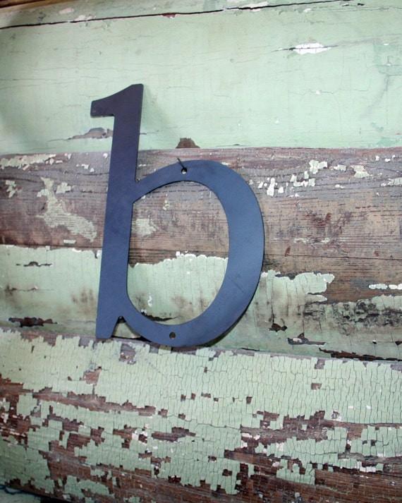 """Lowercase Industrial Metal Letter """"b"""" With FREE Shipping"""