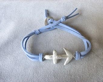 SAGITTARIUS - Silver and Leather Zodiac Bracelet