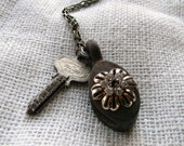 Rustic Pulley Repurposed Necklace