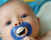 The Comedian Custom Hand Painted Pacifier by PiquantDesigns