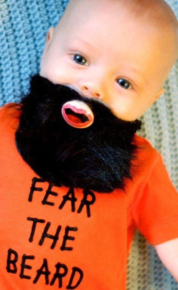 LIMITED EDITION- Fear the Beard- Hand Cut Custom Brian Wilson Beard Pacifier