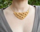 Golden Lite Petal Necklace